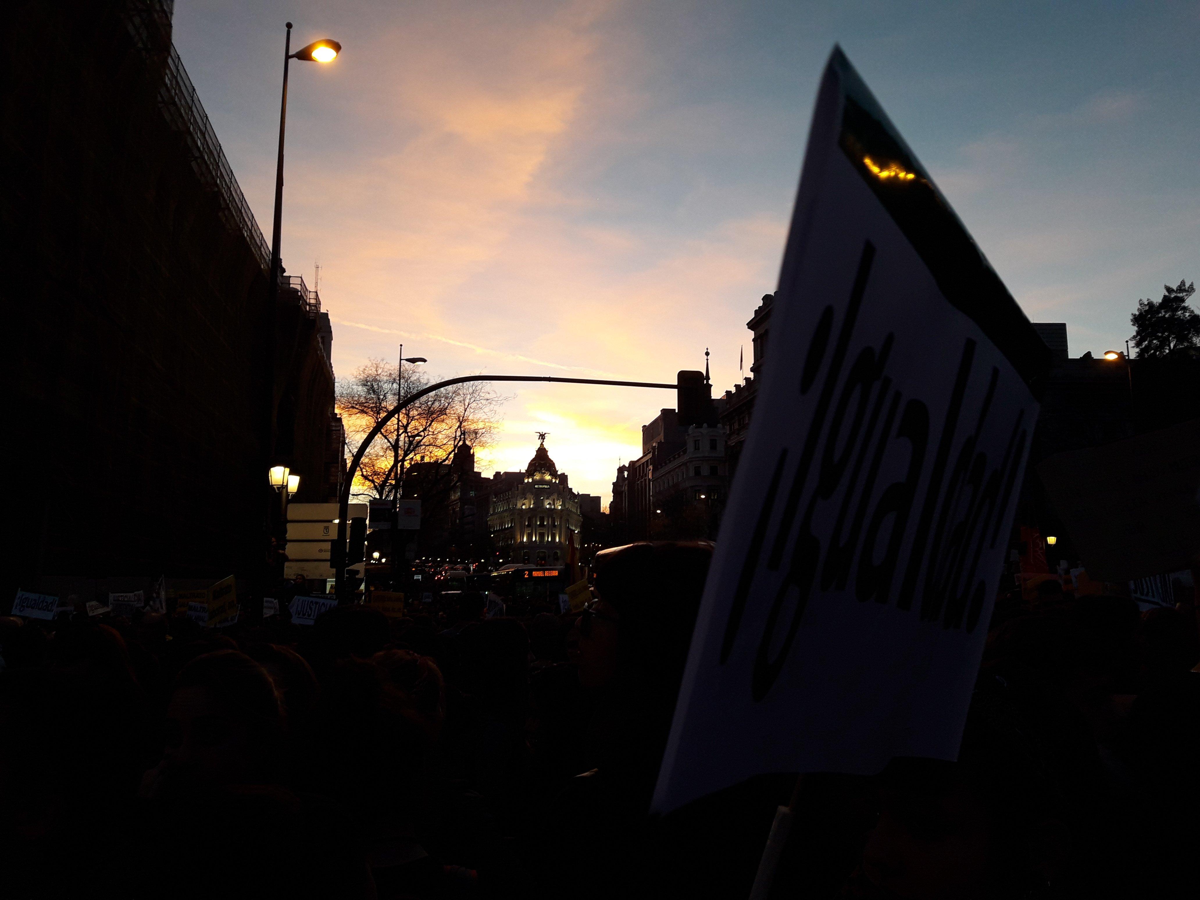 Manifestación en Madrid del Día de la Mujer.