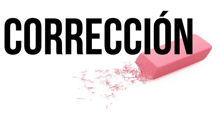 «Corrección»